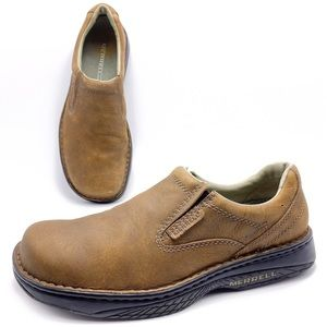 Merrell World Passport Brown Slip On Shoes Loafers